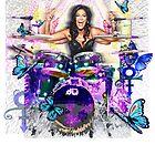 Sheila E. Schlagzeuger - Prince Drum Woman - digitale Kunst von IonaArtDigital von IonaArtDigital