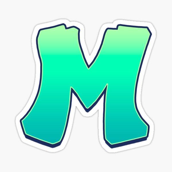 M - green fades Sticker