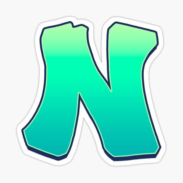 N - green fades Sticker