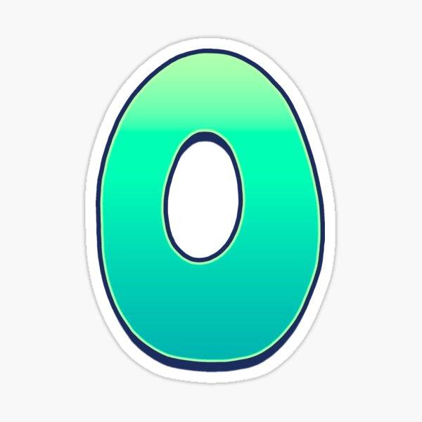 O - green fades Sticker