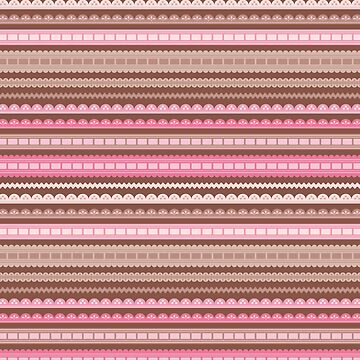 Vector ribbons and laces seamless borders by limengd