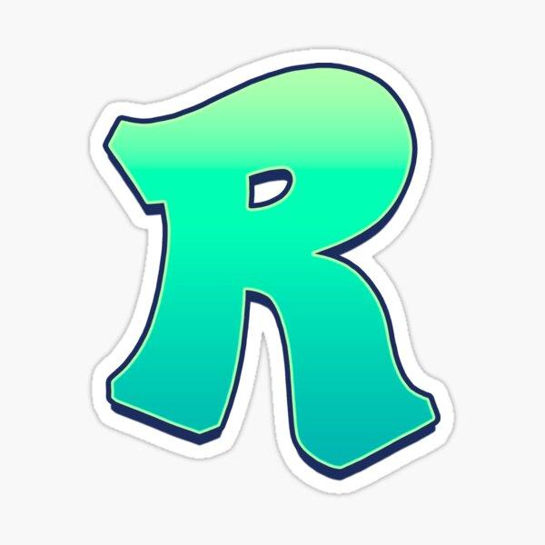 R - green fades Sticker