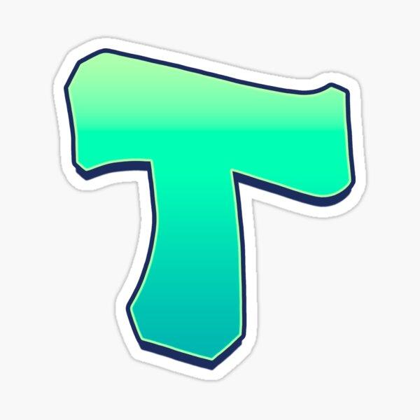 T - green fades Sticker