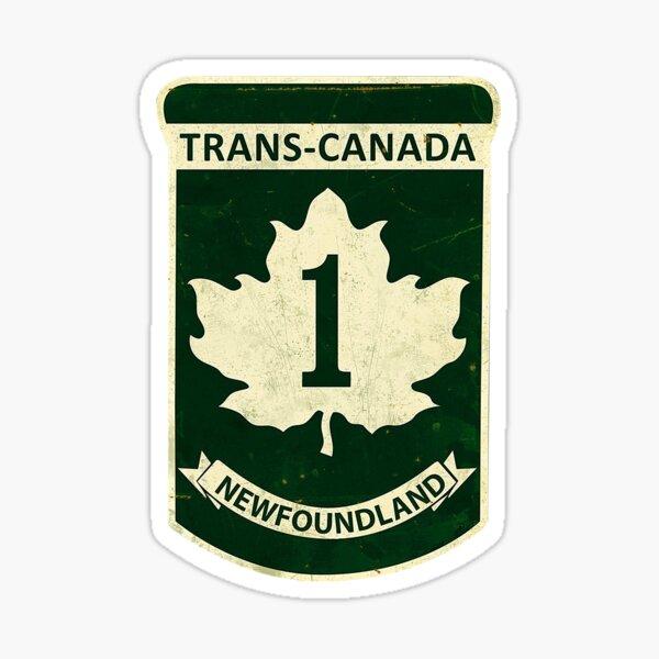 Newfoundland Trans-Canada Highway Sign Sticker