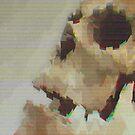 Skull Glitch by cvickersdesign