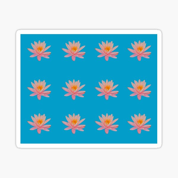Water Lily in Blue Sticker