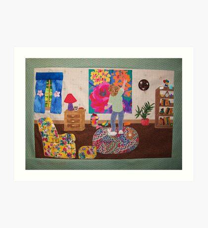 Making a Quilt Art Print