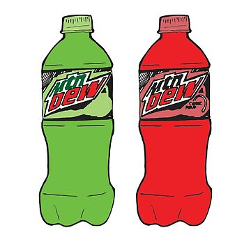 Be More Chill: Green Mountain Dew + Code Red Mountian Dew by broadway-island
