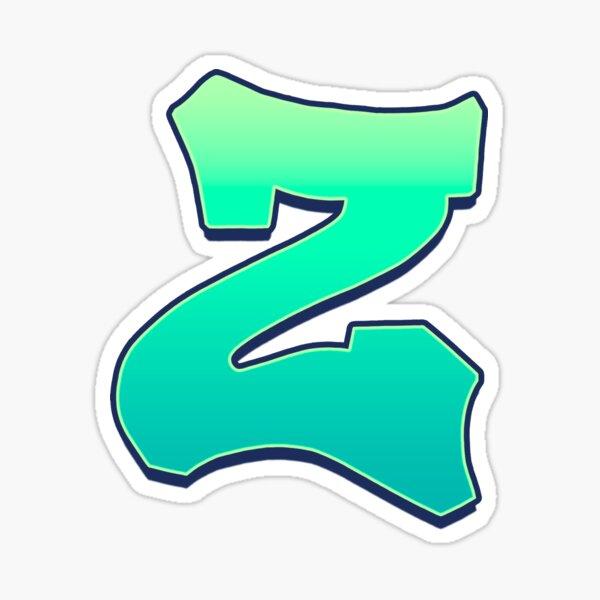 Z - green fades Sticker