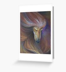 Afghan Hound in muted colours Greeting Card