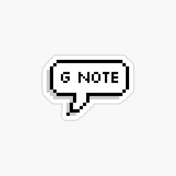 G Note pixel bubble Sticker