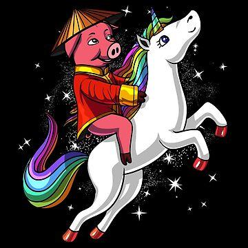 Chinese New Year 2019 Pig Riding Unicorn Gift by nikolayjs