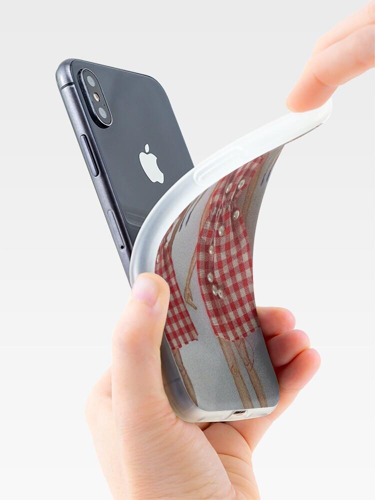 Alternate view of Fashion Illustration Tartan Dress iPhone Case & Cover