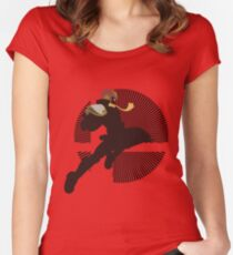 Captain Falcon (Smash 4, Knee of Justice) - Sunset Shores Women's Fitted Scoop T-Shirt