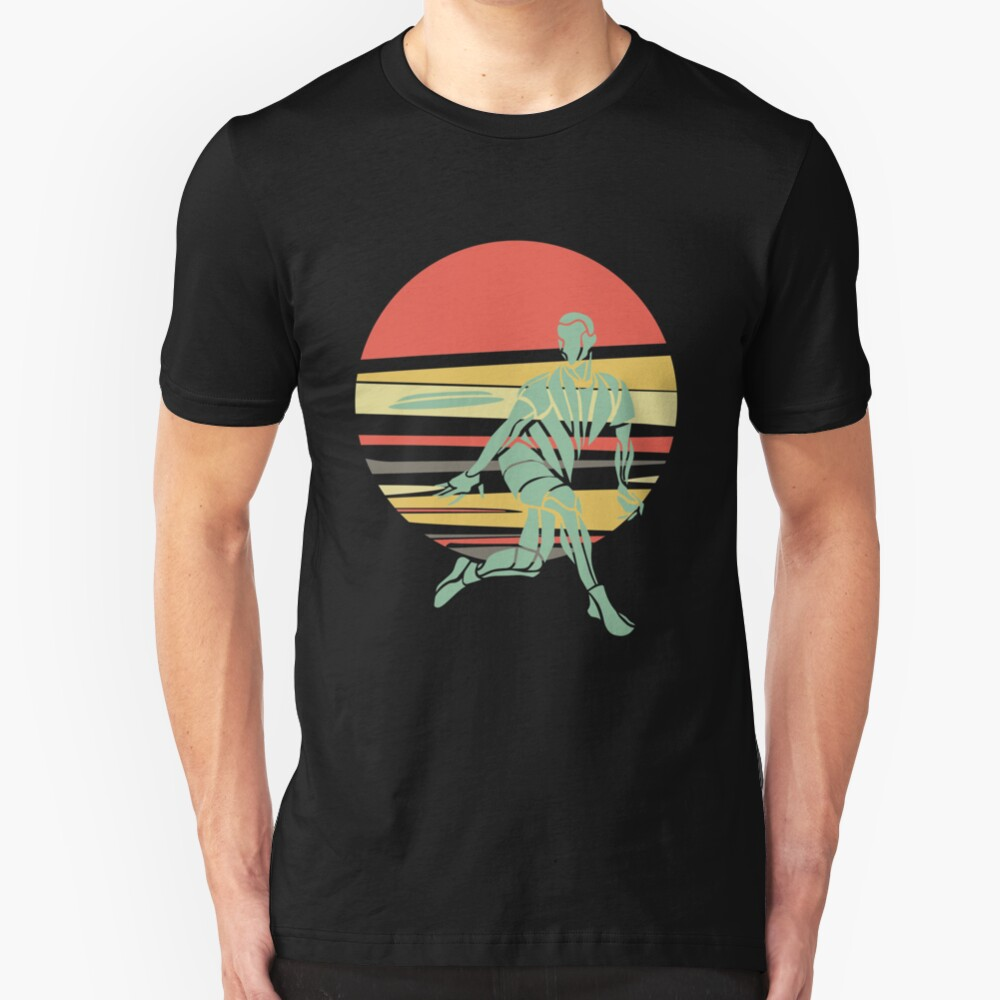 Retro Ultimate Frisbee Player Slim Fit T-Shirt