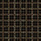 Gold and black lines geometric pattern by artonwear