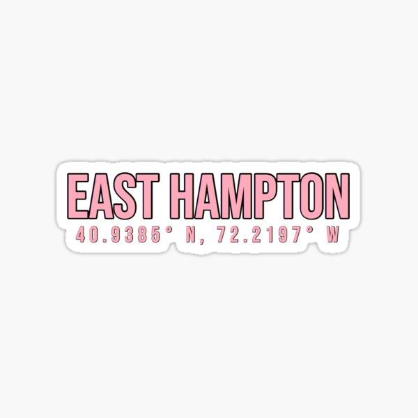 East Hampton Coordinates Sticker