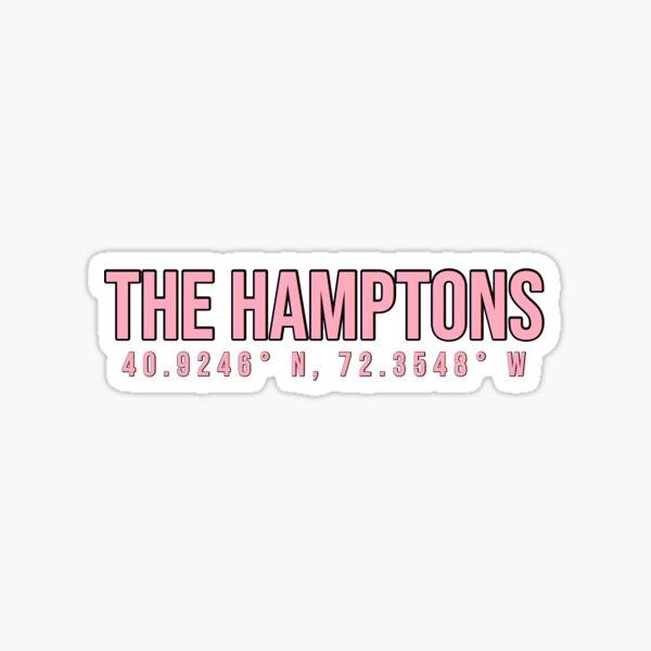 The Hamptons Coordinates Sticker