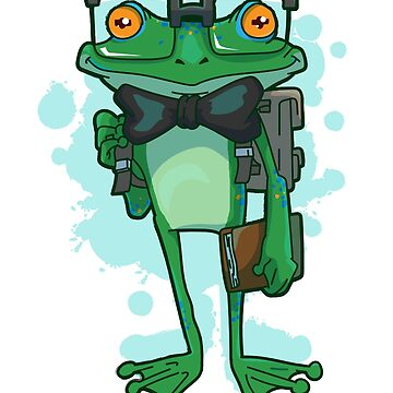 Nerd frog with glasses by schnibschnab