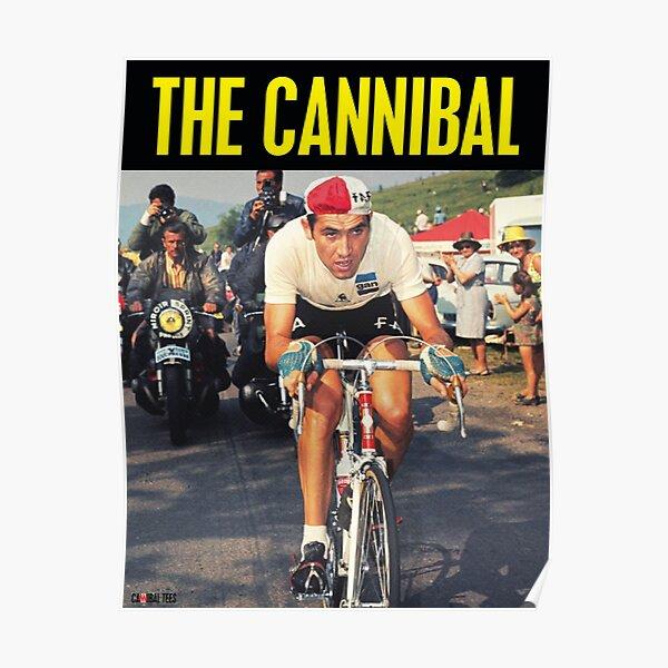 Eddy Merckx Cycling Legend Snow Poster