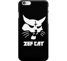 Zefcat (white) iPhone Case/Skin