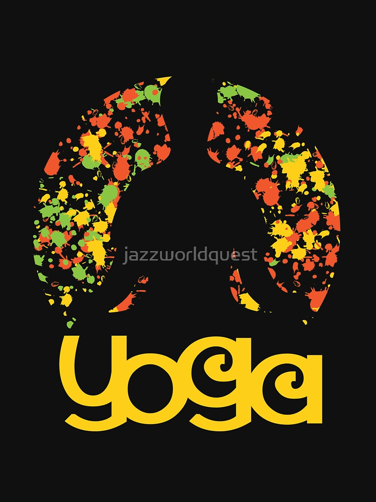 Modern Colored Floral Yoga Design by jazzworldquest