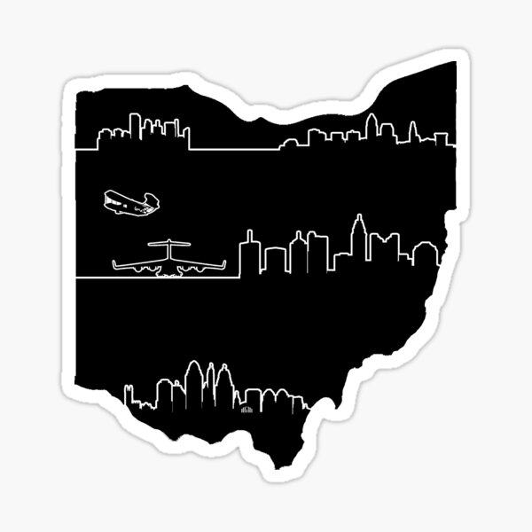 Ohio's Skylines Sticker