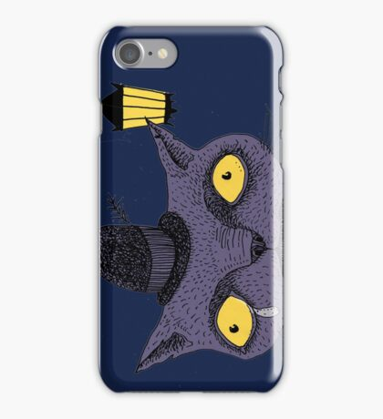 Sad Cat with Moonlight Memories iPhone Case/Skin