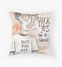 Heck Yes! Throw Pillow