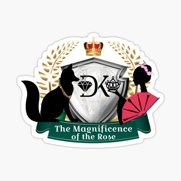 Magnificence of the Rose Sticker