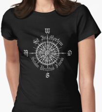 """PC Gamer's Compass - """"Death is Only the End of the Game"""" Women's Fitted T-Shirt"""