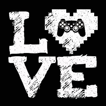 I Love Video Games Heart Controller Gift - I Love Video Games Valentine's Day T-Shirt for Multiplayer Players by MrTStyle