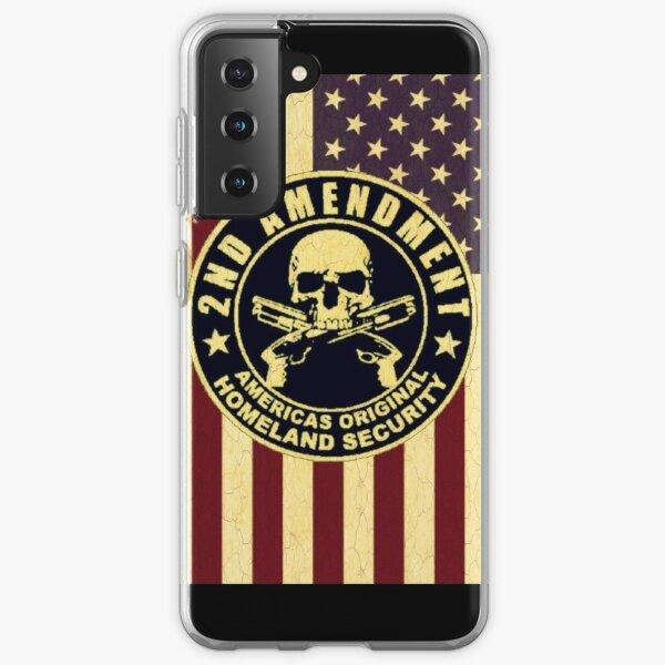 Retro vintage second amendment American flag graphic design Samsung Galaxy Soft Case