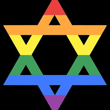 Rainbow Star of David (dark) by porcupride