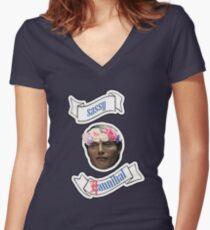 Sassy(C)Hannibal Women's Fitted V-Neck T-Shirt
