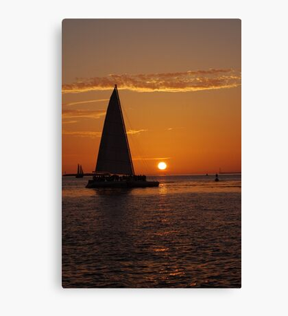 The most beautiful sunsets happen in Key West, FL Canvas Print
