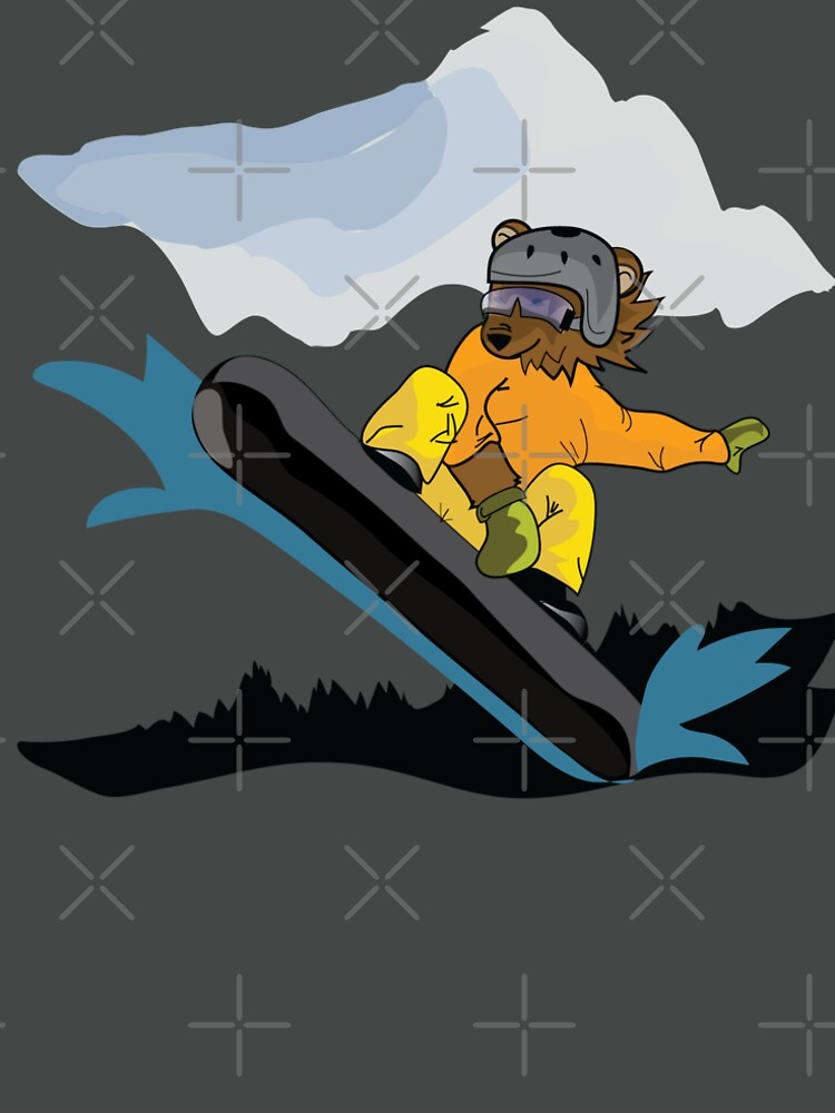 Snowboarding Grizzly Bear by CreativeContour