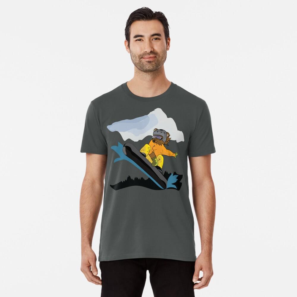 Snowboarding Grizzly Bear Premium T-Shirt