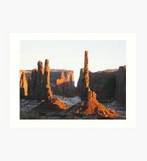 Scene from Monument Valley Art Print