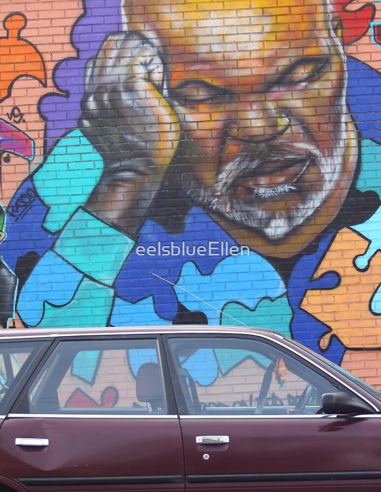 Wall on MLK Blvd. by eelsblueEllen