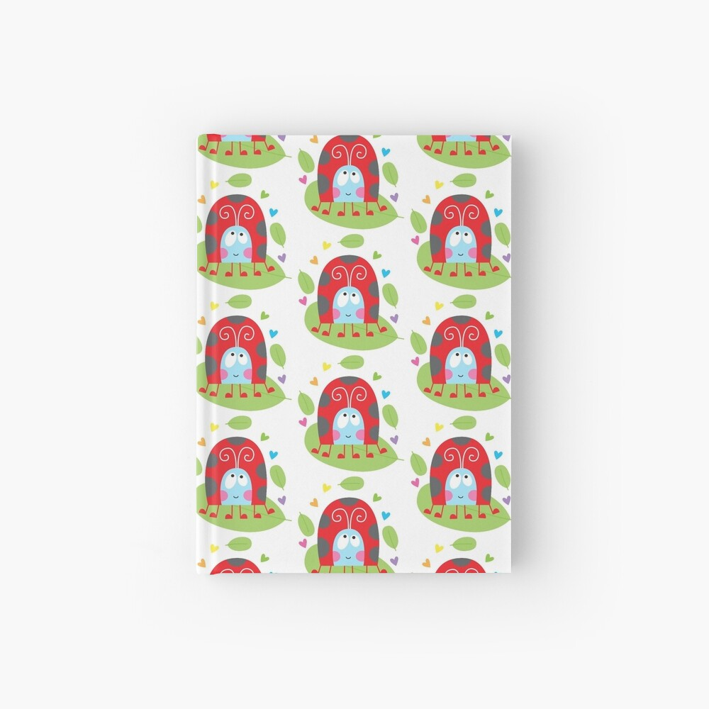 Happy ladybug Hardcover Journal