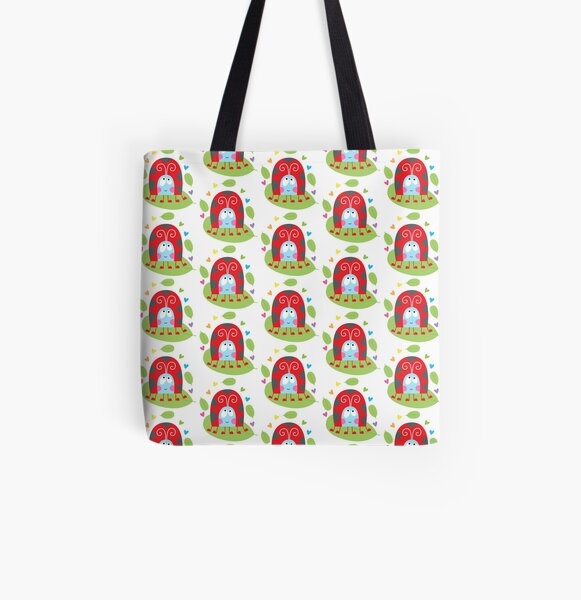 Happy ladybug All Over Print Tote Bag