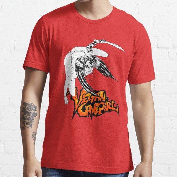 Vegan Cave Girl Strikes Essential T-Shirt