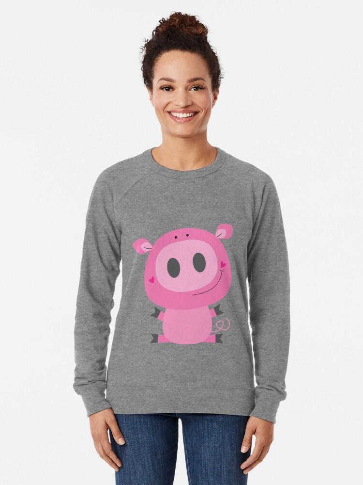 Alternate view of Cutie pig Lightweight Sweatshirt
