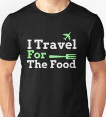 Ich reise für das Essen - Foodie Design Slim Fit T-Shirt