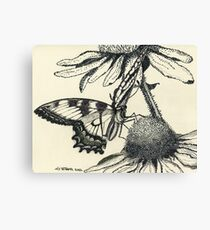 Dotted Butterfly Canvas Print