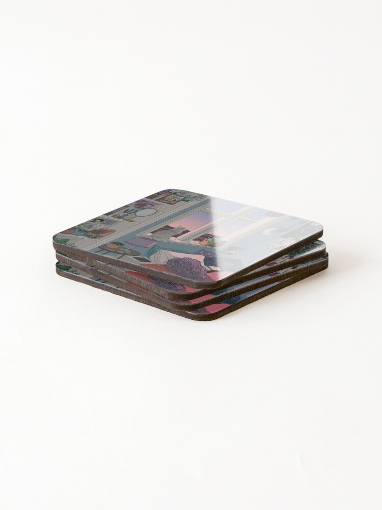 Alternate view of Early Morning Coasters (Set of 4)