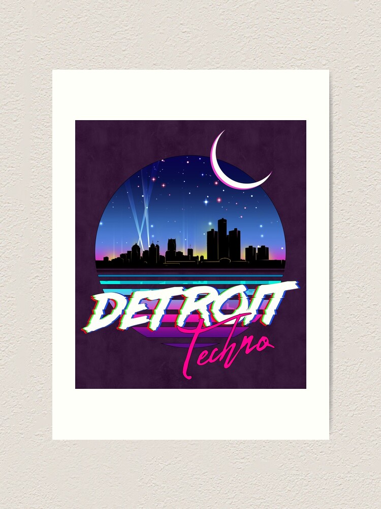 Alternate view of DETROIT TECHNO - Retro 80s Design Art Print