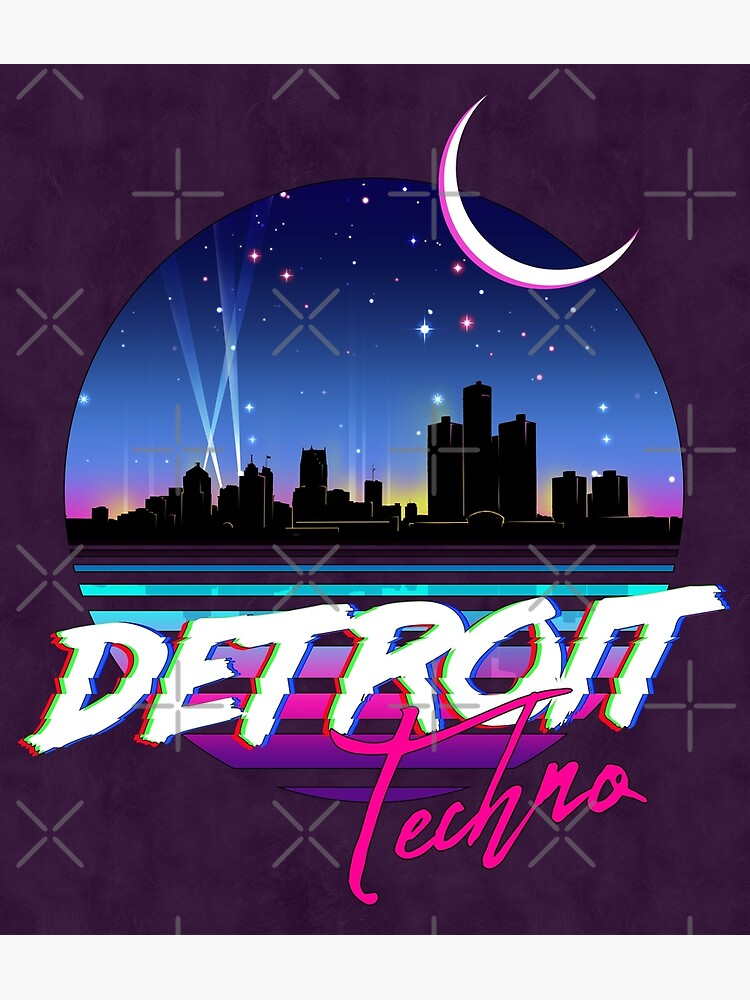 DETROIT TECHNO - Retro 80s Design by forge22