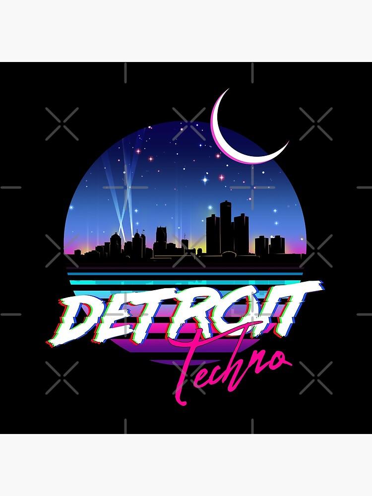 DETROIT TECHNO - Retro 80s Design by forge22